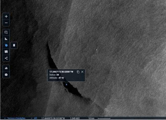 oil image satellite in brazil