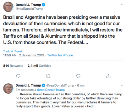Brazil and Donald Trump Tweeter